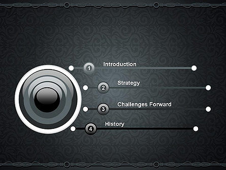 Dark Background with Ornament PowerPoint Templat Slide 3