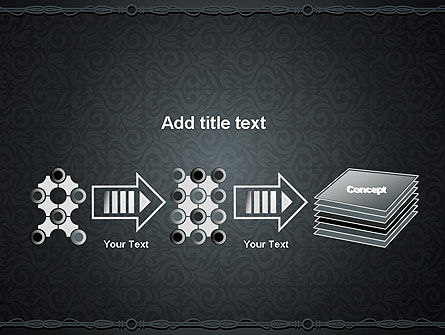 Dark Background with Ornament PowerPoint Templat Slide 9