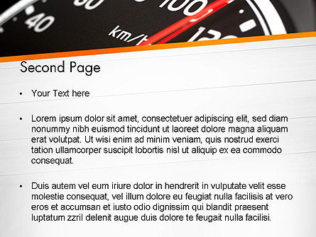 Speed Meter Gauge PowerPoint Template Slide 2