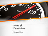 Cars and Transportation: Speed ​​meter Gauge PowerPoint Template #13675