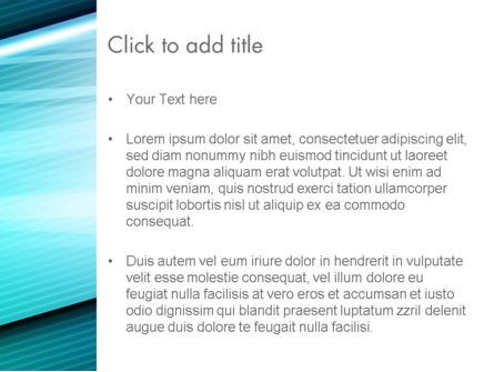 Diagonal Lines and Glow PowerPoint Template, Slide 3, 13676, Abstract/Textures — PoweredTemplate.com
