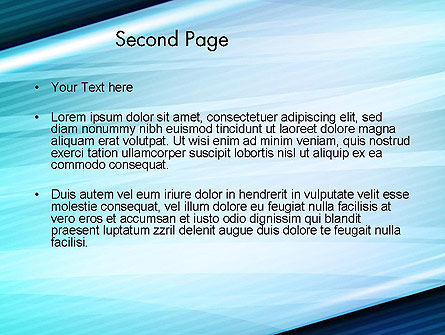 Diagonal Lines and Glow PowerPoint Template Slide 2