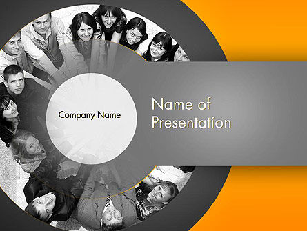 Team Linked in Common Idea PowerPoint Template, 13678, People — PoweredTemplate.com