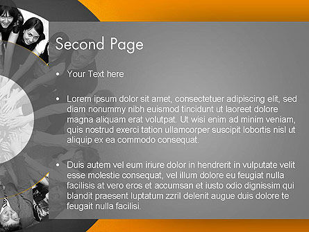 Team Linked in Common Idea PowerPoint Template, Slide 2, 13678, People — PoweredTemplate.com