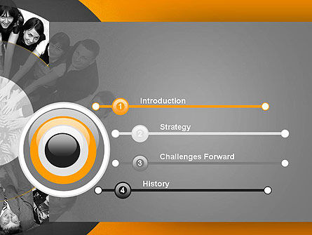 Team Linked in Common Idea PowerPoint Template, Slide 3, 13678, People — PoweredTemplate.com