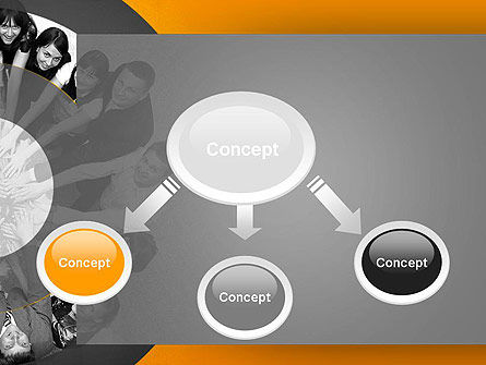 Team Linked in Common Idea PowerPoint Template, Slide 4, 13678, People — PoweredTemplate.com