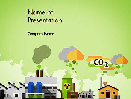 Planet Pollution PowerPoint Template, 13681, Nature & Environment — PoweredTemplate.com