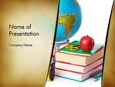 Education & Training: Back to School Supplies PowerPoint Template #13682