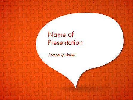 Speech Bubble on Orange Background PowerPoint Template