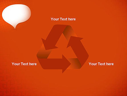 Speech Bubble on Orange Background PowerPoint Template Slide 10