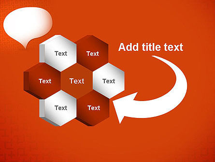 Speech Bubble on Orange Background PowerPoint Template Slide 11