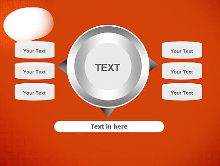 Speech Bubble on Orange Background PowerPoint Template Slide 12