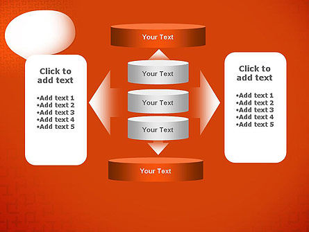 Speech Bubble on Orange Background PowerPoint Template Slide 13
