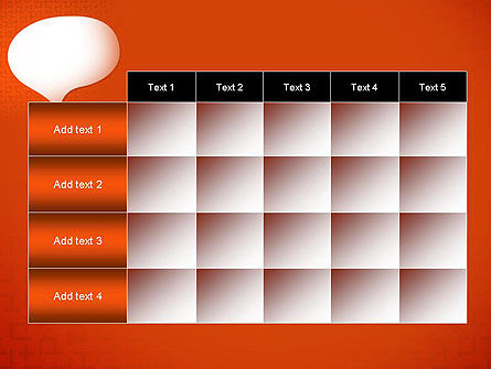 Speech Bubble on Orange Background PowerPoint Template Slide 15