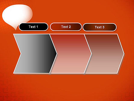 Speech Bubble on Orange Background PowerPoint Template Slide 16