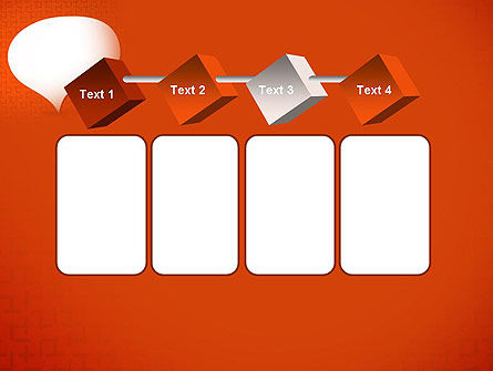 Speech Bubble on Orange Background PowerPoint Template Slide 18