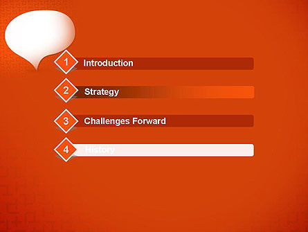 Speech Bubble on Orange Background PowerPoint Template Slide 3