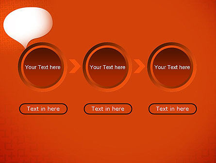 Speech Bubble on Orange Background PowerPoint Template Slide 5