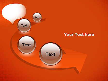 Speech Bubble on Orange Background PowerPoint Template Slide 6