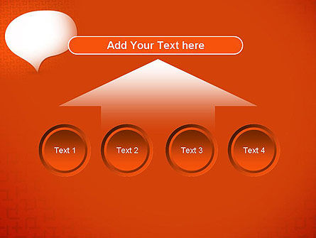 Speech Bubble on Orange Background PowerPoint Template Slide 8
