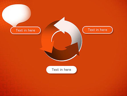 Speech Bubble on Orange Background PowerPoint Template Slide 9