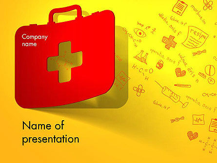 First Aid Box and Medical Supplies PowerPoint Template