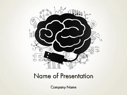 Brain Training Concept PowerPoint Template, 13685, Education & Training — PoweredTemplate.com