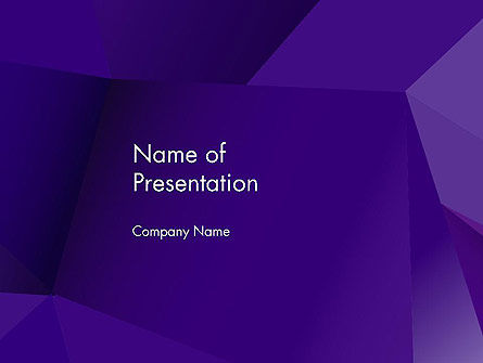 Abstract Layers in Deep Violet PowerPoint Template, 13686, Abstract/Textures — PoweredTemplate.com