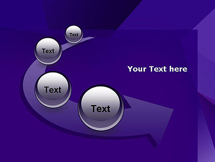 Abstract Layers in Deep Violet PowerPoint Template Slide 6