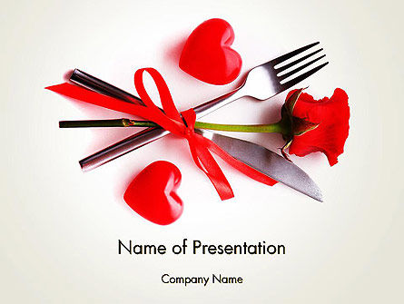Holiday/Special Occasion: Romantic Dinner Invitation PowerPoint Template #13688