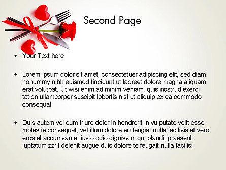 Romantic Dinner Invitation PowerPoint Template Slide 2