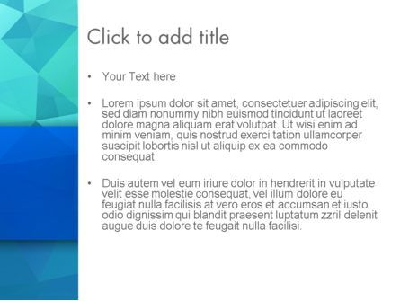 Abstract Azure Polygons PowerPoint Template, Slide 3, 13689, Abstract/Textures — PoweredTemplate.com