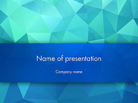Abstract Azure Polygons PowerPoint Template, 13689, Abstract/Textures — PoweredTemplate.com