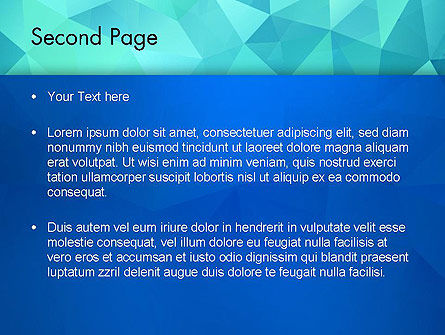 Abstract Azure Polygons PowerPoint Template, Slide 2, 13689, Abstract/Textures — PoweredTemplate.com