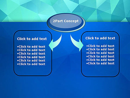 Abstract Azure Polygons PowerPoint Template Slide 4