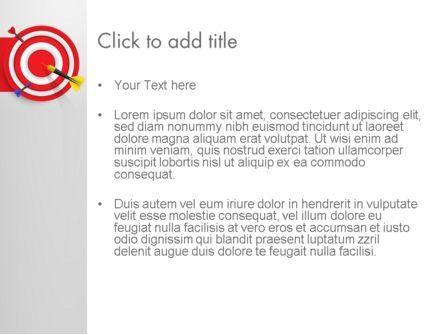 Red Bullseye Target PowerPoint Template, Slide 3, 13690, Business Concepts — PoweredTemplate.com