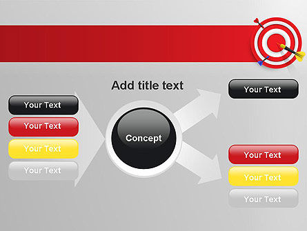 Red Bullseye Target PowerPoint Template Slide 14