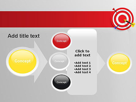Red Bullseye Target PowerPoint Template Slide 17