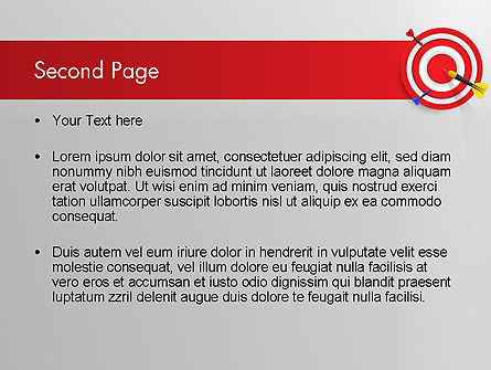 Red Bullseye Target PowerPoint Template, Slide 2, 13690, Business Concepts — PoweredTemplate.com