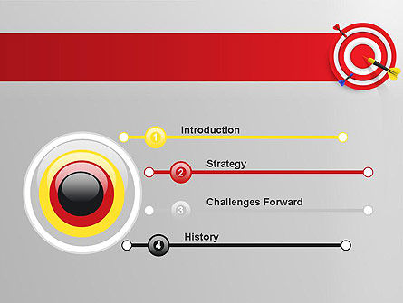 Red Bullseye Target PowerPoint Template, Slide 3, 13690, Business Concepts — PoweredTemplate.com