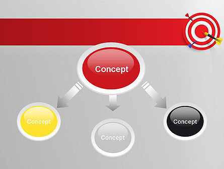 Red Bullseye Target PowerPoint Template, Slide 4, 13690, Business Concepts — PoweredTemplate.com