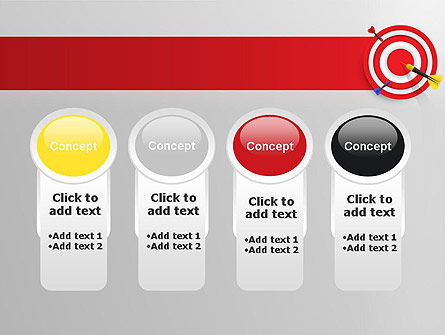 Red Bullseye Target PowerPoint Template Slide 5