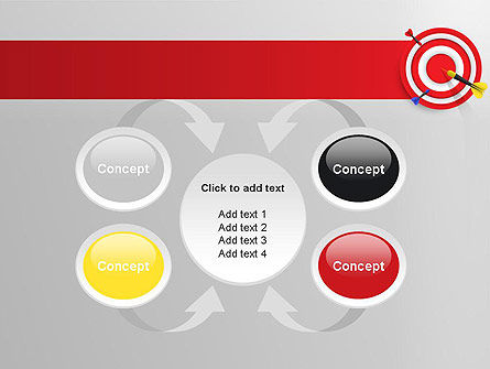 Red Bullseye Target PowerPoint Template Slide 6
