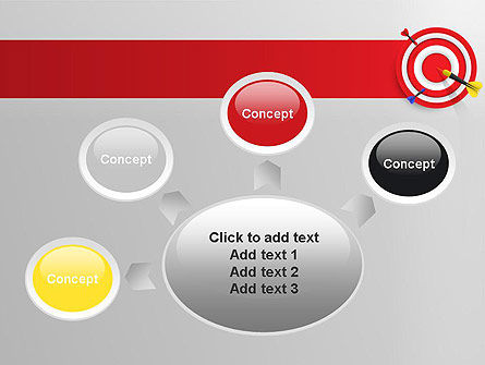 Red Bullseye Target PowerPoint Template Slide 7