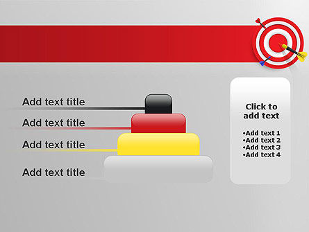 Red Bullseye Target PowerPoint Template Slide 8