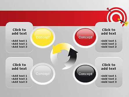 Red Bullseye Target PowerPoint Template Slide 9