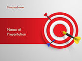 Business Concepts: Red Bullseye Doel PowerPoint Template #13690