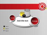 Red Bullseye Target PowerPoint Template#16