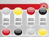Red Bullseye Target PowerPoint Template#18