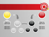 Red Bullseye Target PowerPoint Template#19